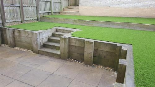 1. Artificial grass above sleepers bed