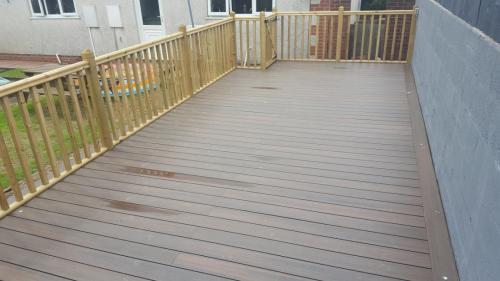 13.Walnut composite deck with timber handrails