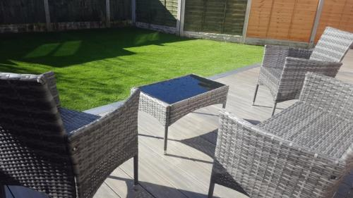 13. Artificial grass with antique composite deck