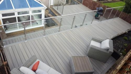 2. Antique deck with glass balustrades