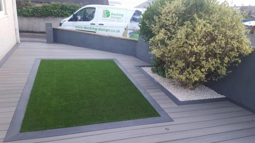 20. Artificial grass and composite deck