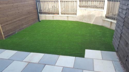 3. Artificial grass with patio