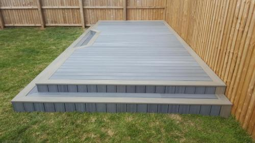 34. Light grey deck with Antique edging