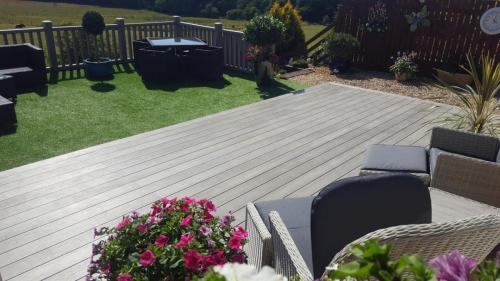 36. Antique deck with artificial grass