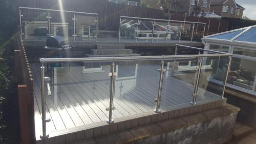 4. Antique deck with glass balustrades