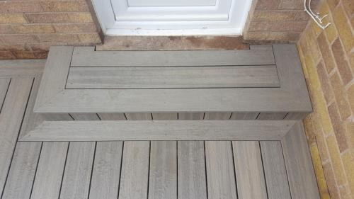44. Light grey step details
