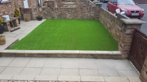 7. Artificial grass front yard
