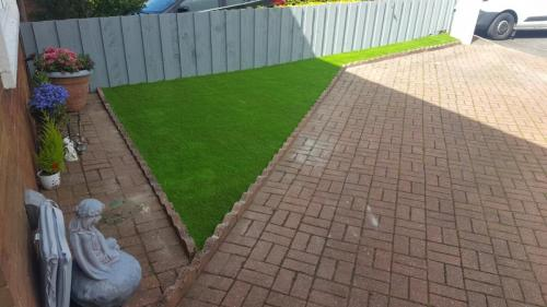 8. Artificial grass front yard