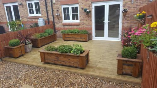 8. Oak composite deck